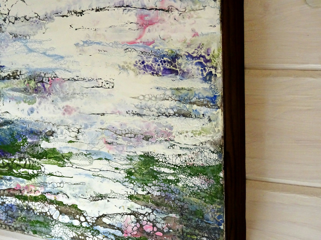 Original Abstract Encaustic Painting - Scottish Landscape - Water