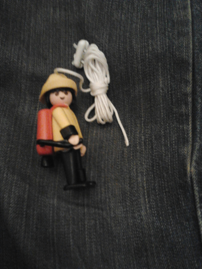 Quirky kitsch Playmobil light pull ( lightpull, lamp pull )