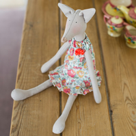Miss Kitty Fox, a Tilda style Fox figure based on Jane Austen's novels
