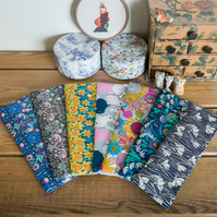 DPN holder, cosy or case for dpns made with Liberty tana lawn prints