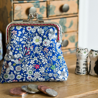 Coin purse made with Liberty lawn print: 'June's Meadow', a cheerful floral