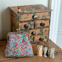 Coin purse made with Liberty Lawn in pretty floral print: 'Emma and Georgina'