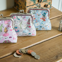 Coin purse made with Alice in Wonderland print Liberty Lawn, 'Gallymoggers'