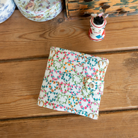 Sewing case or kit made with pretty vintage Liberty Tana Lawn 'Maisie' print