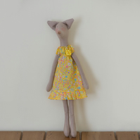 Miss Jane Fox - a Tilda style Fox figure based on Jane Austen's novels
