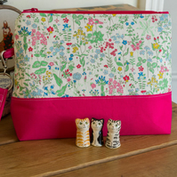 Project bag - Liberty print, perfect for socks or a smaller shawl project