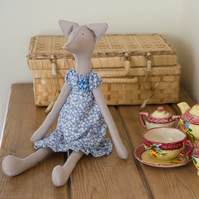 Miss Lizzie Fox, a Tilda style Fox figure based on Jane Austen's novels