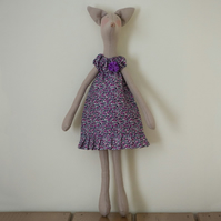Miss Marianne Fox, a Tilda style Fox figure based on Jane Austen's novels