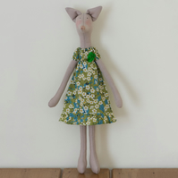 Miss Mary Fox, a Tilda style Fox figure based on Jane Austen's novels