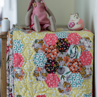 Heirloom quilt - this is Grandma's Suffolk Garden crib or lap quilt