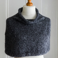 This cape is 'The Hug' - a super soft and warm mini capelet or shoulder cosy