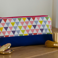 Zip pouch in a really useful size, perfect as a make up bag or large pencil case