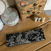 DPN holder, cosy or case made with nani iro black, cream and silver fabric
