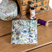 This sewing case is stitched in a Liberty Lawn floral called 'Wild Flowers'