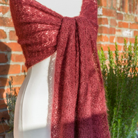 Party shawl in red coloured crochet lace - perfect party season cover up