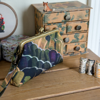 Wristlet purse or small clutch made with Liberty of London tana lawn