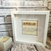 Graduation gift for best friend, 21st birthday gift for her, Scrabble wall art
