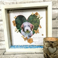 Pet memorial frame, Pet loss gift, Sympathy gift, Memorial gift,Miscarriage gift