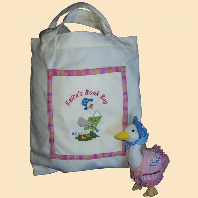 Jemima Duck Personalised Book Bag
