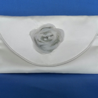 Sparkly Ivory Silk Mini Clutch Bag
