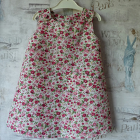 Floral Pinafore Dress - Age 1
