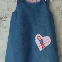Denim Pinafore Dress  Age 1