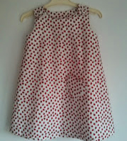Strawberry Pinafore Dress Age 4