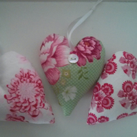 Set of Pink and Green Scented Hearts