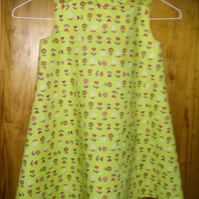Green Flowery Dress Age 4