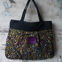 Multi Colour Woven Handbag