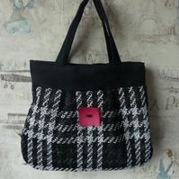Black and White Handbag