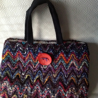 Multi-colour Woven Handbag