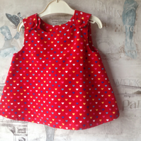 Cute Red Cord Top Age 3-6mths