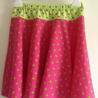 Green and Pink Spotty Skirt Age 6