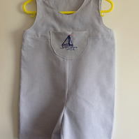 Cute Short Blue Dungarees Age 1