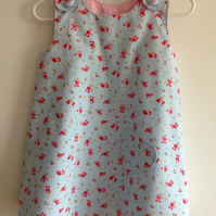 Pretty Light Blue Pinafore Dress age 3