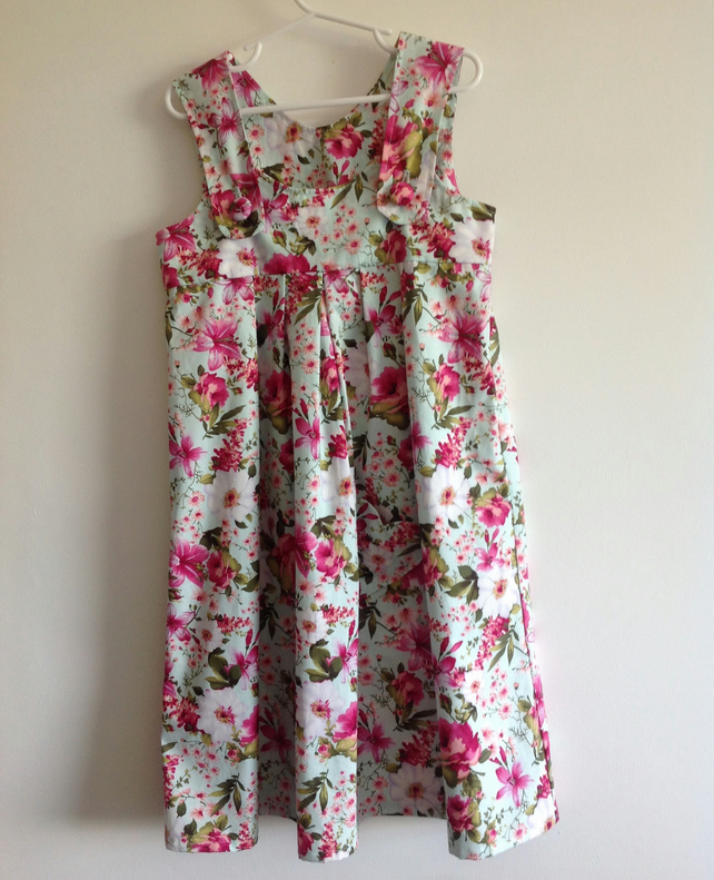 Mint GreenTropical Print Sundress Age 7
