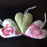 Green Spotty and Pink Flowery Lavender Bags