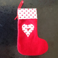 Small Starry Christmas Stocking