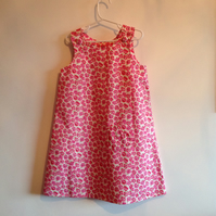 Pink Poppy Pinafore Dress Age 5