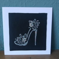 Sparkly Shoe Blank Card