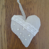 Pearls and Lace Heart