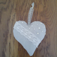 Lace and Pearls Heart
