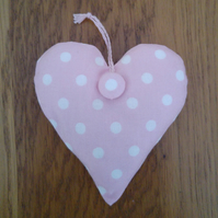 Pink and White Spotty Lavender Heart