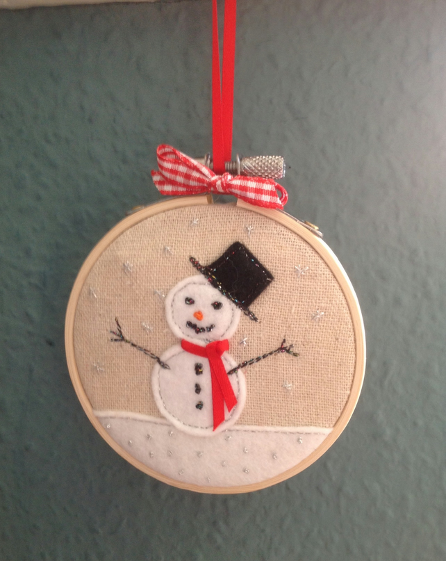 Hand Embroidered Christmas Decoration