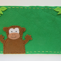 Personalised monkey name plate
