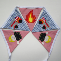 Fire engine bunting
