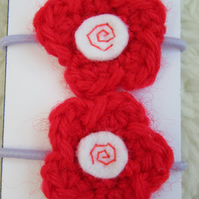 Flower hair bands, toddler hair bobbles