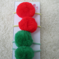 Pompom hair bands