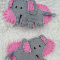 Elephant hair clips, toddler hair accessories